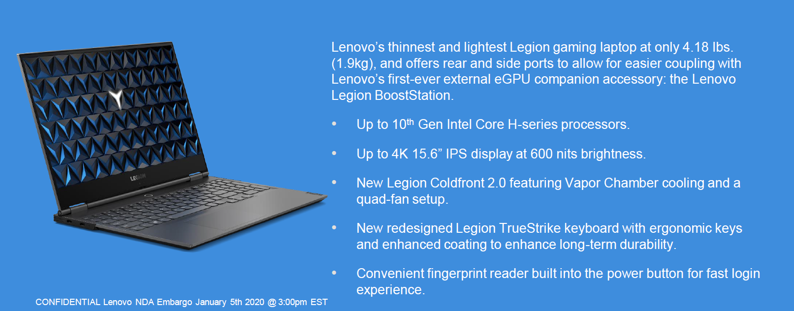 Ces 2020: lenovo unveils new gaming laptops, egpus, monitors & accessories for 2020 - onmsft. Com - january 5, 2020