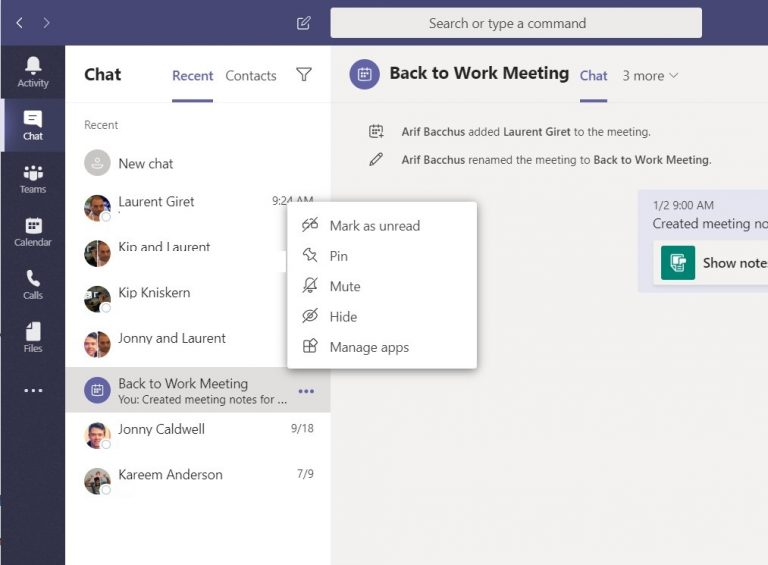Top five tips for chatting in Microsoft Teams OnMSFT.com January 7, 2020