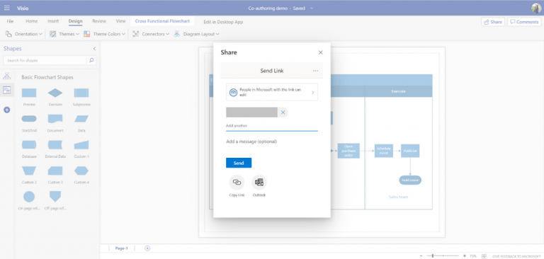 Real time co-authoring is now available in Visio for the web OnMSFT.com February 10, 2020