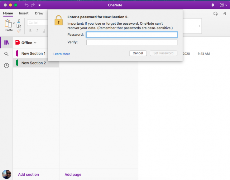 How to password protect notebook sections in onenote on windows, ios, android, and macos - onmsft. Com - february 11, 2020