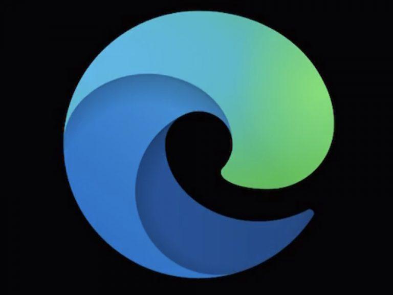 Microsoft Edge web browser dark mode icon