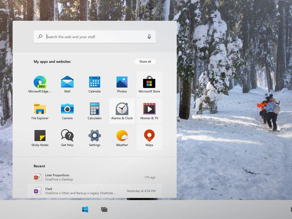 Windows 10x start