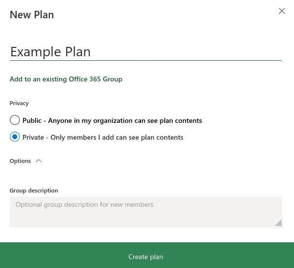 Screenshot of managing tasks in Microsoft Planner