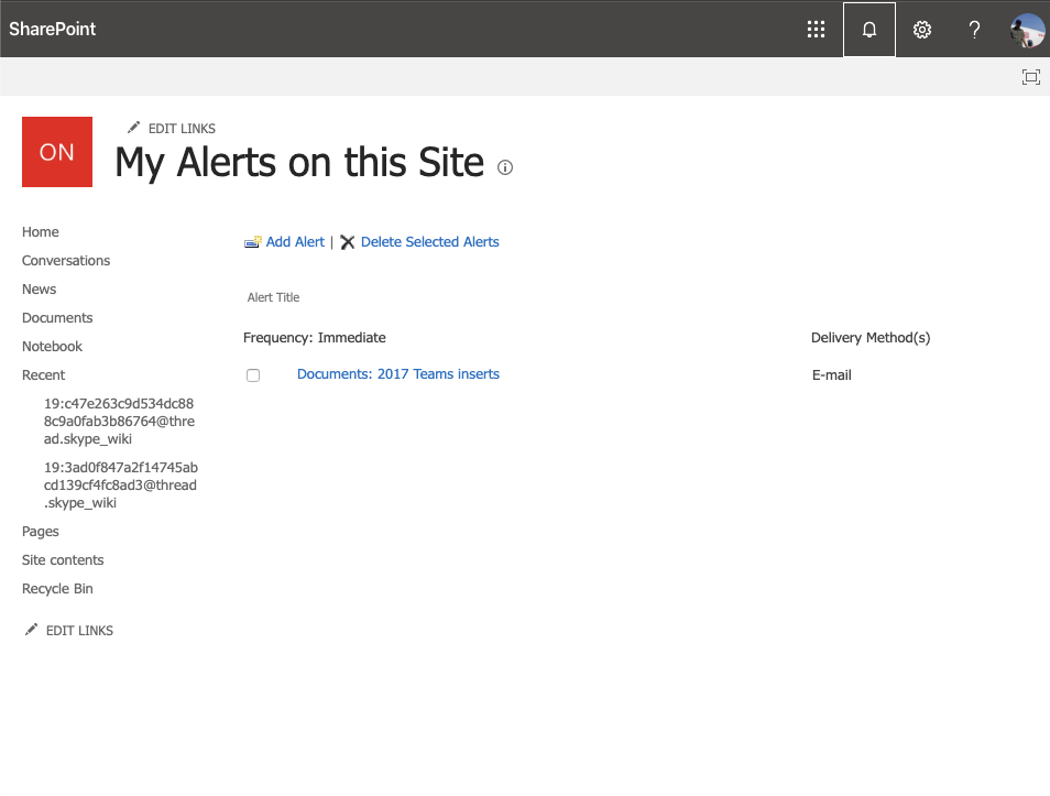Here's how to get alerts when someone changes your files in SharePoint Online OnMSFT.com March 26, 2020