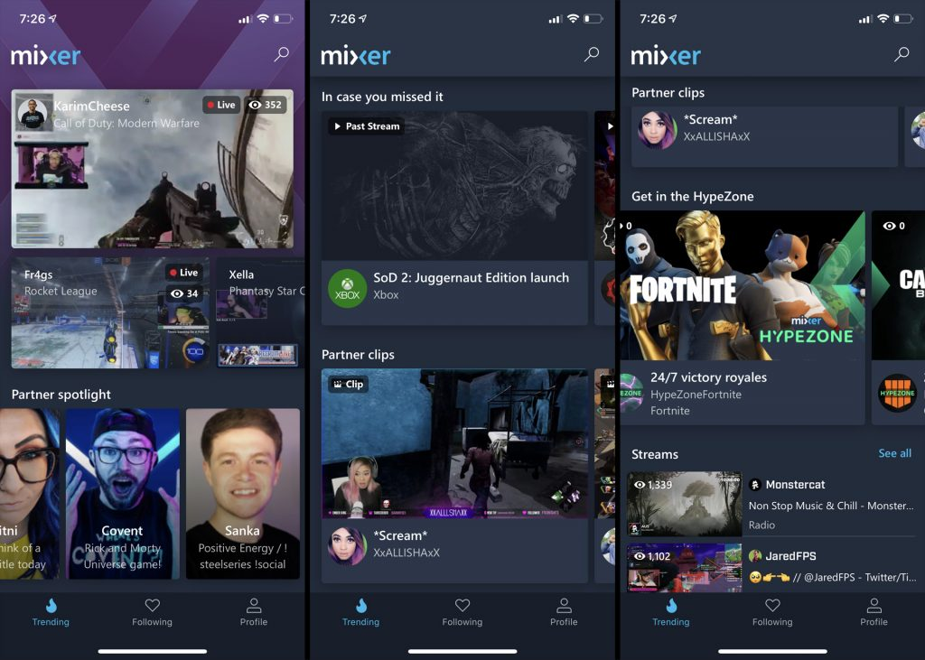 Mixer app on iOS