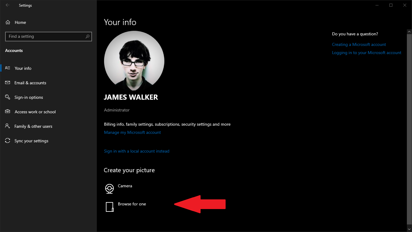 How to change your account profile picture in Windows 10 ...