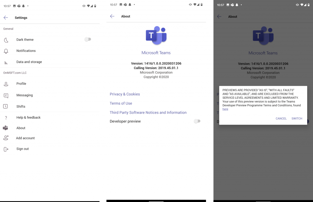 How to join the Microsoft Teams developer preview on desktop and mobile OnMSFT.com March 25, 2020
