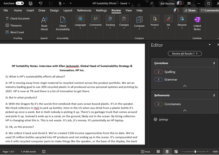 Hands on with the new Microsoft Editor in Word: Here to save you from the grammar, spelling, and clarity pains OnMSFT.com March 31, 2020