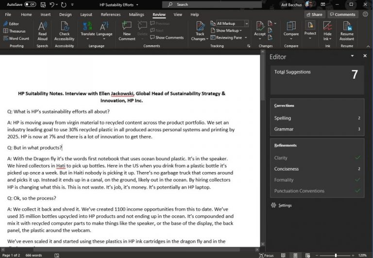 Hands on with the new microsoft editor in word: here to save you from the grammar, spelling, and clarity pains - onmsft. Com - march 31, 2020