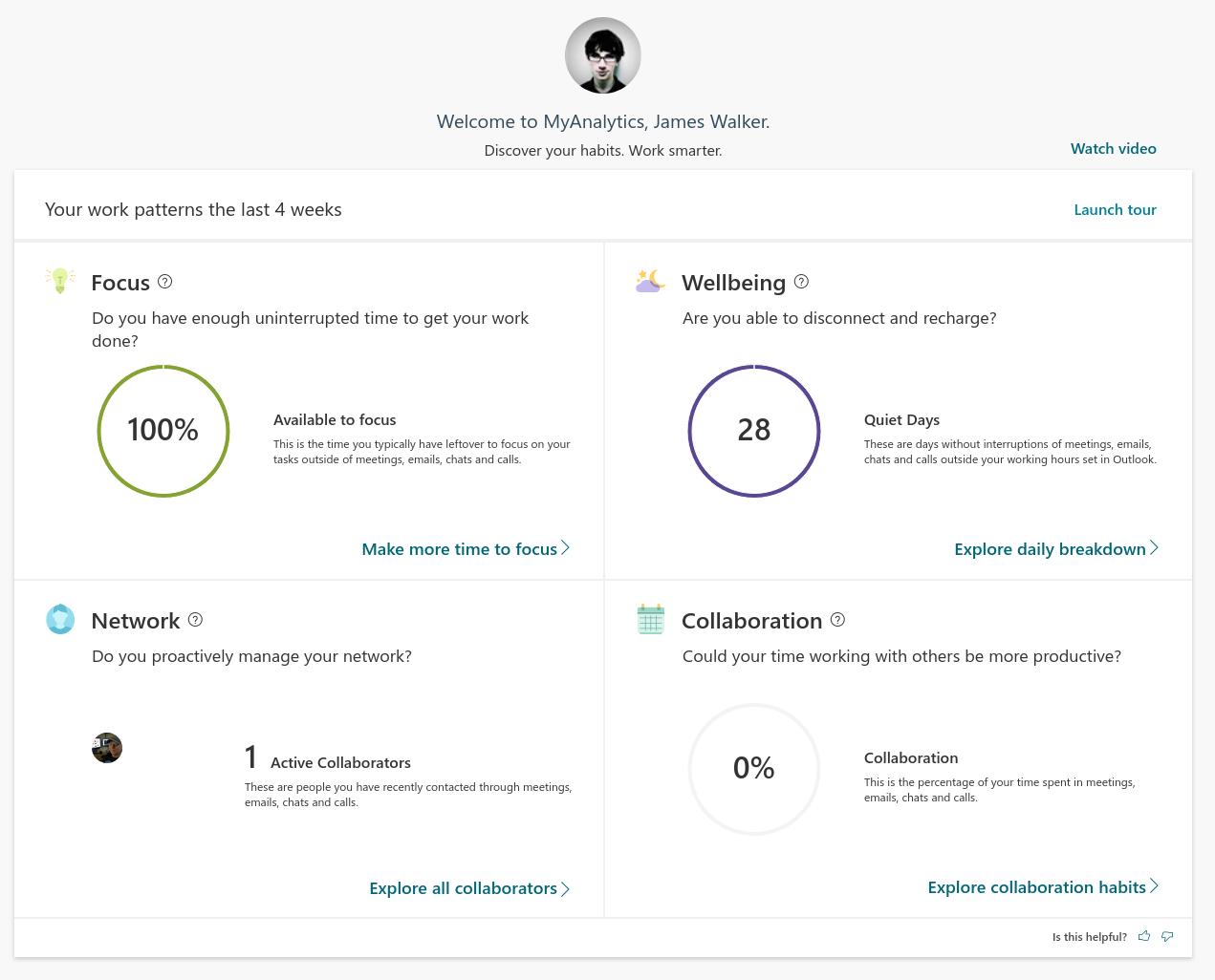 Screenshot of Microsoft Analytics