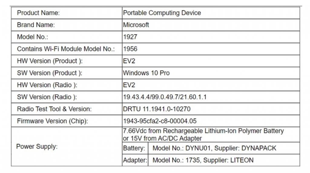 Microsoft's surface go 2 may have been confirmed by fcc filing - onmsft. Com - april 14, 2020