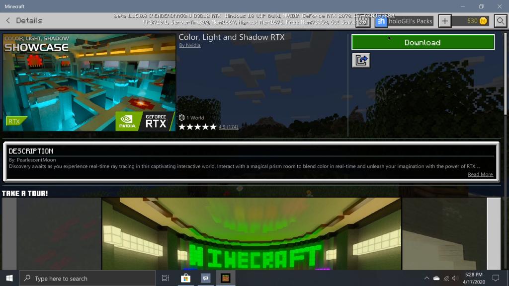 Minecraft Marketplace RTX Download