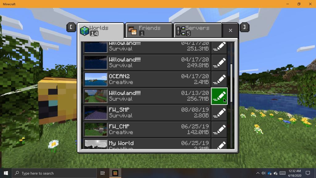 minecraft export