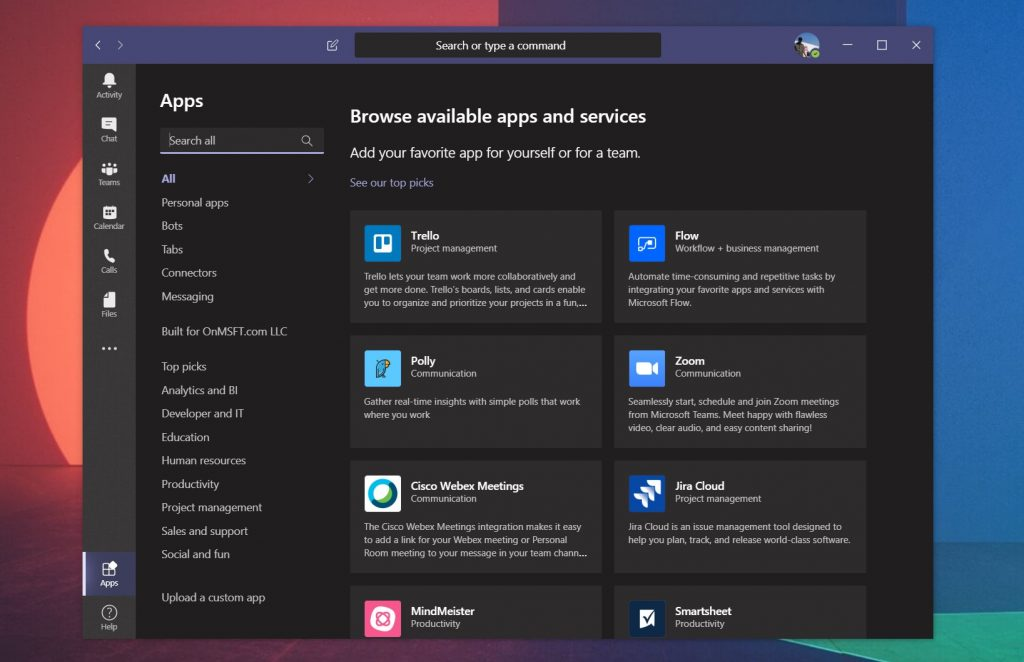Bots, analytics, project management, and lots more: how to add apps to microsoft teams - onmsft. Com - april 14, 2020