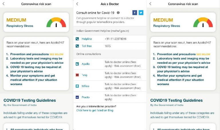 Bing covid-19 tracker - india