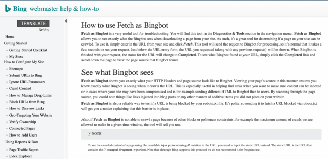 Fetch with Bingbot