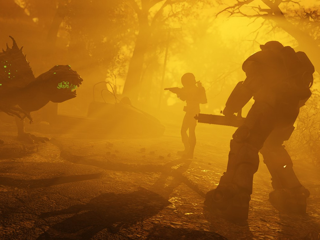 Fallout 76 wastelanders video game on xbox one