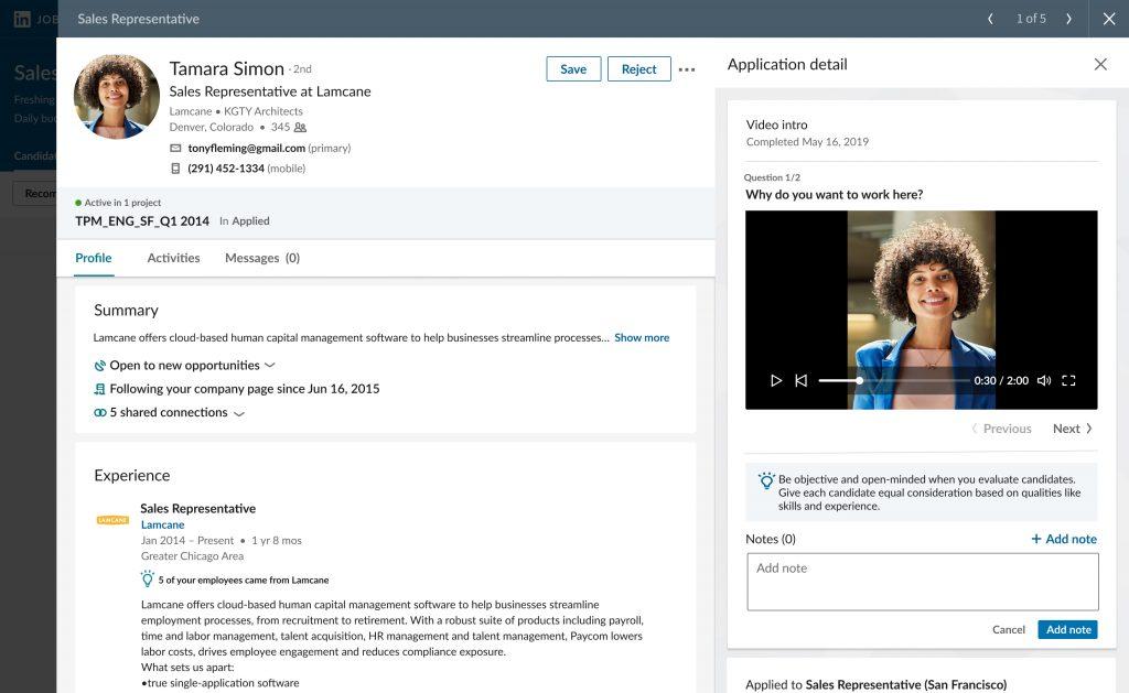 LinkedIn video intros feature