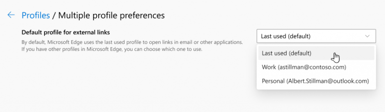 Microsoft edge profiles