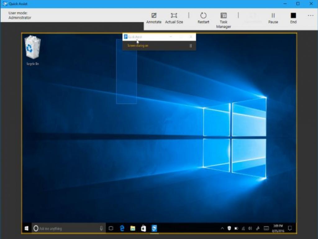 Quick Assist Windows 10 App