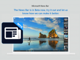 Windows 10 news bar beta