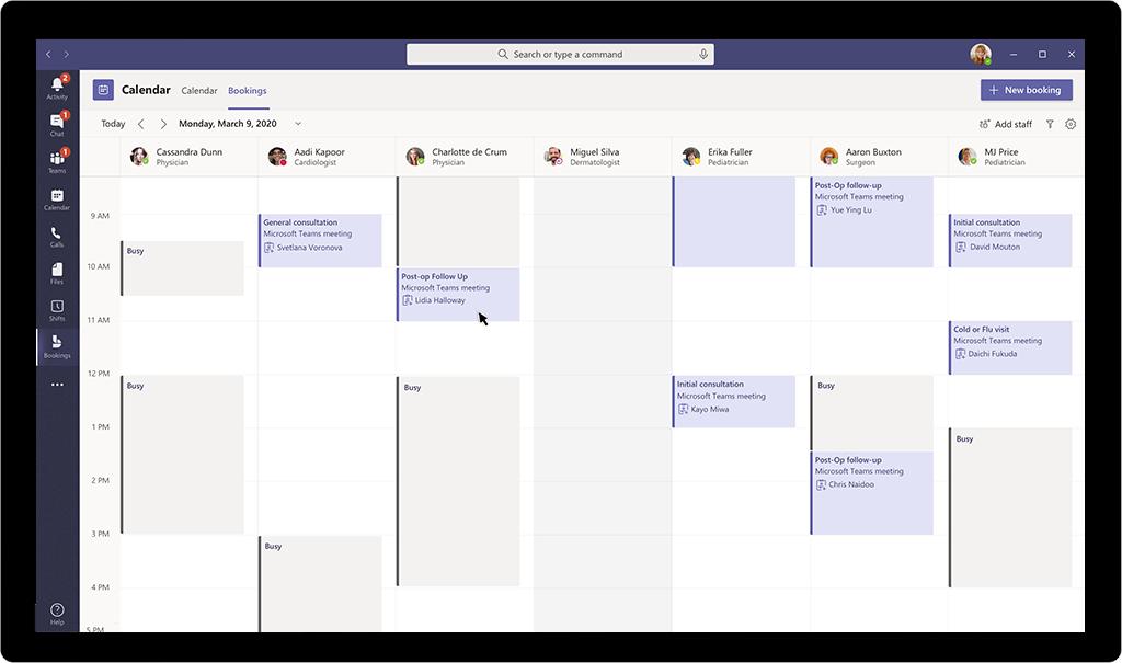 Bookings app Microsoft Teams
