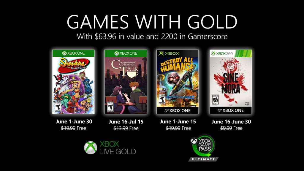 Microsoft announces new Games with Gold for June 2020