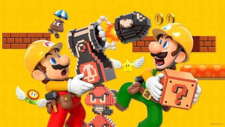 Super Mario Maker 2 Microsoft Teams backgrounds