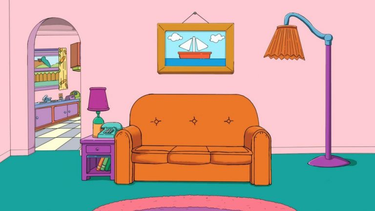 The Simpsons Couch Microsoft Teams backgrounds