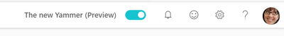 Yammer experience toggle