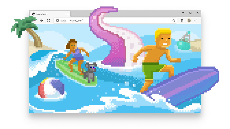 Microsoft Edge Now Has A Surfing Game In It
