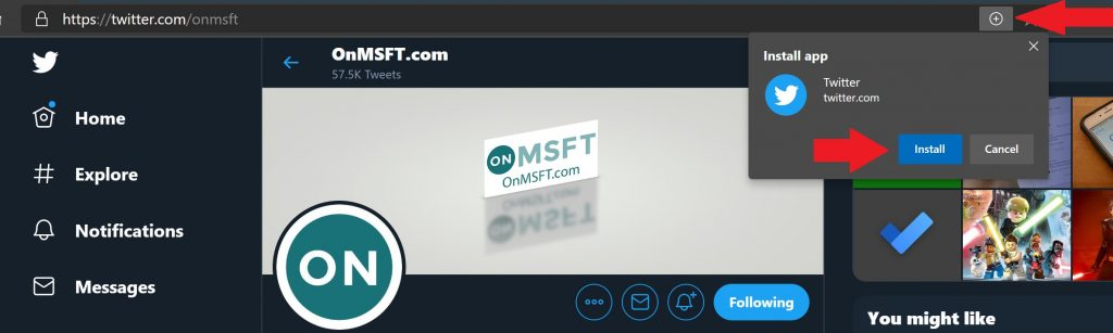 How to install a pwa on windows 10 using microsoft edge - onmsft. Com - may 28, 2020