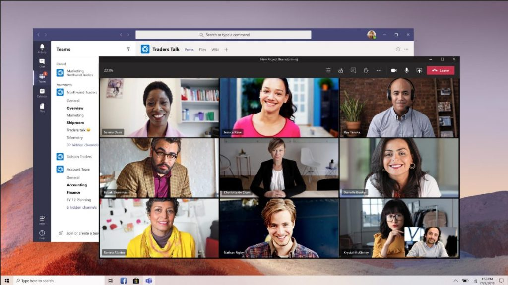 Microsoft Teams new meeting experience