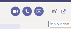 Microsoft Teams pop out chat method 3