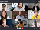Skype 3x3 grid view