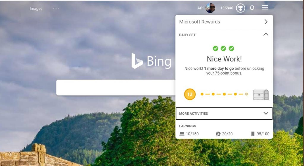 Bing gets a new dark mode on mobile and new microsoft rewards flyout menu, too - onmsft. Com - june 4, 2020