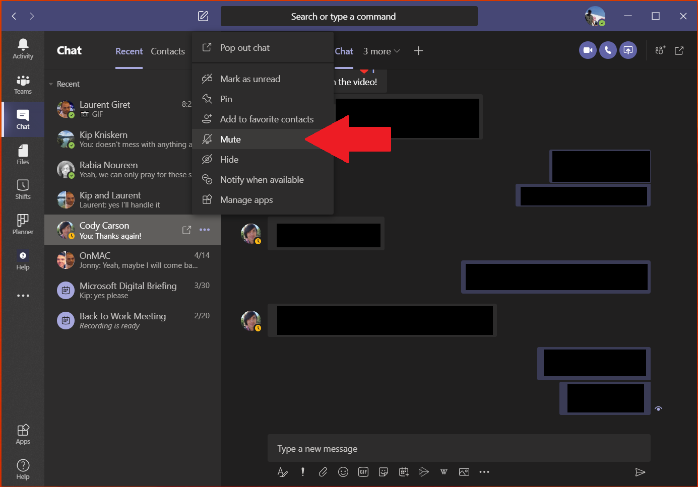 How to delete a chat in microsoft teams - onmsft. Com - june 9, 2020