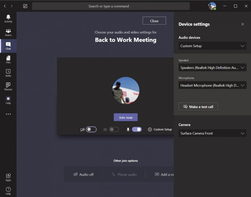 How to create a custom video, speaker, and audio setup in microsoft teams - onmsft. Com - june 24, 2020