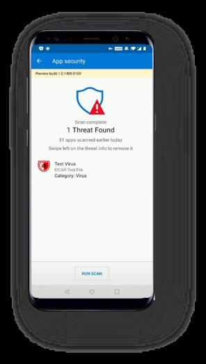 Microsoft Defender ATP Android ThreatFound