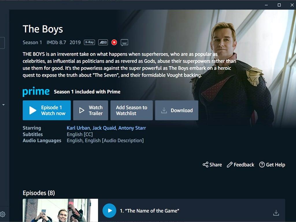 Amazon Prime Video App Windows 10