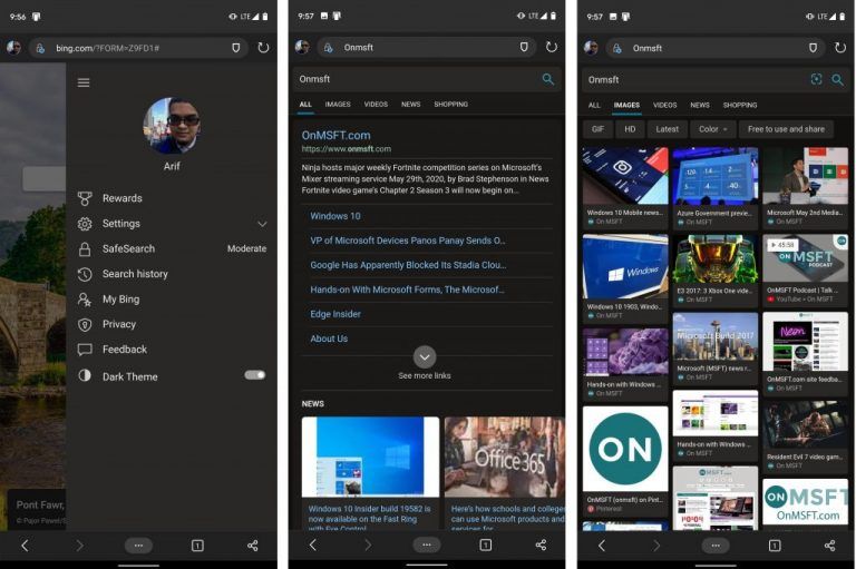 Microsoft news recap: bing gets dark mode on mobile, microsoft teams increases meeting and chat user limits, and more - onmsft. Com - june 6, 2020