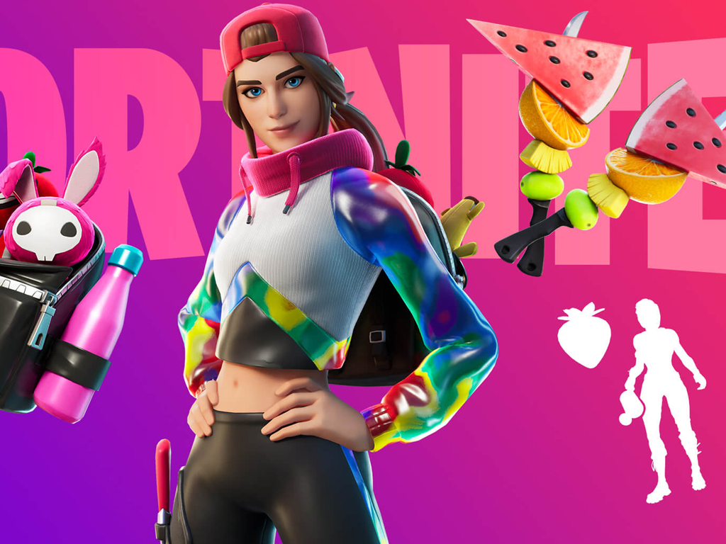 Loserfruit streamer in Fortnite video game on Xbox One and Windows 10.