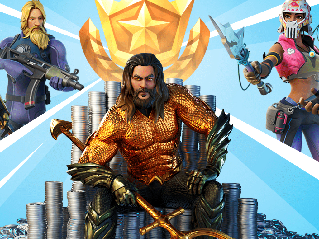 Aquaman in Fortnite Chapter 2 Season 3 on Xbox One and Xbox Series X.