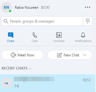 Microsoft Teams/Skype contact list