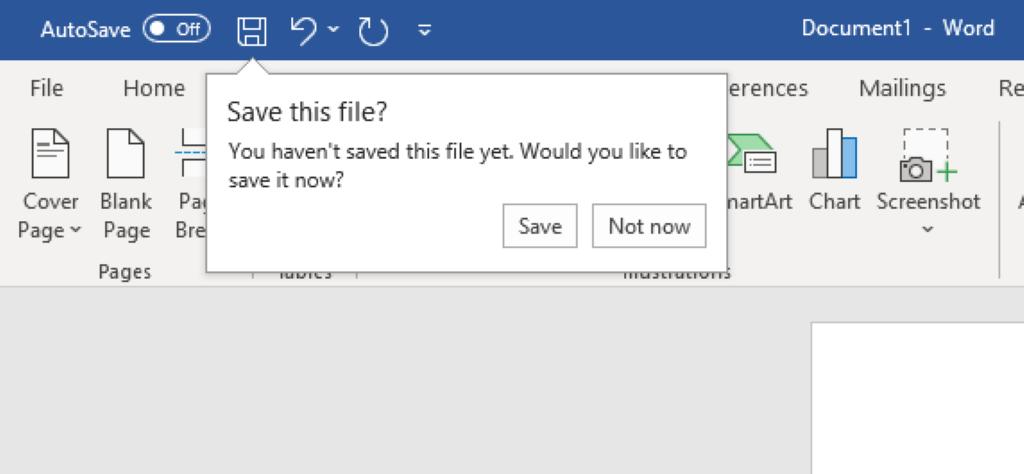 Microsoft Word Smart save
