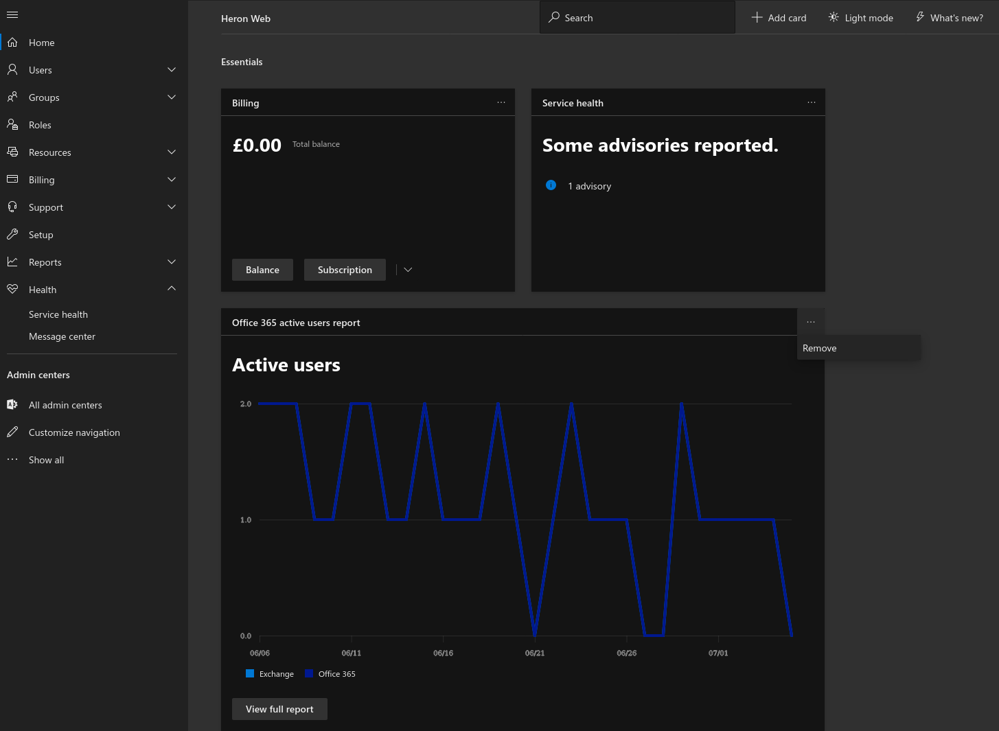How to use and customise the Office 365 Admin Centre homescreen OnMSFT.com July 8, 2020
