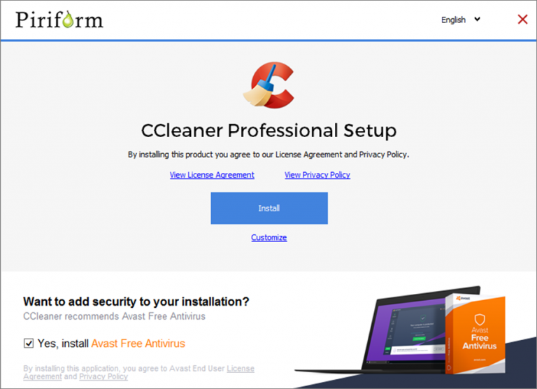 CCleaner flags Microsoft Defender PUA