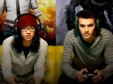 Two men playing xbox video games.