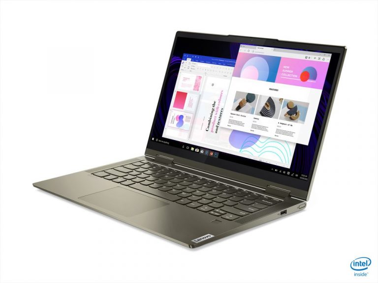 02b yoga 7 hero front facing left with yoga mouse