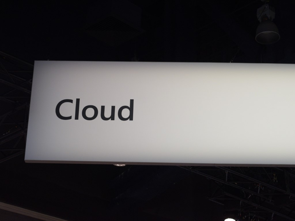 Cloud sign at conference